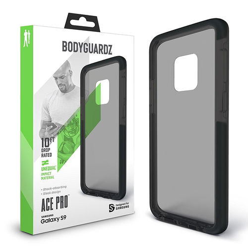 BodyGuardz Ace Pro Unequal Case for Samsung Galaxy S9 - Smoke Black